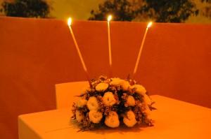 עיצוב מרכז שולחן בחתונה